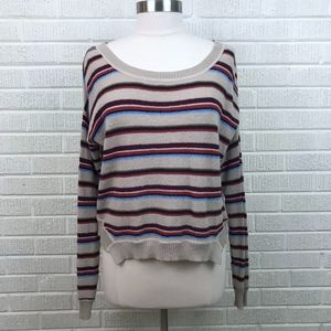 Free People Beach M Striped Sweater Pullover